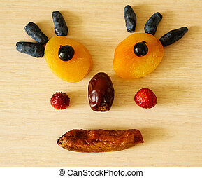 Edible little man - Edible man from dried apricots,...