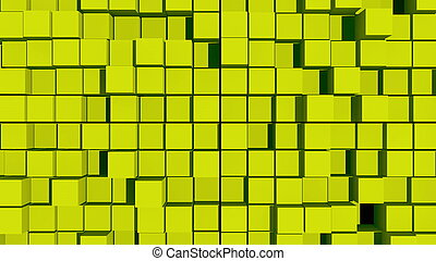 abstract background with surface cubes. 3d rendering