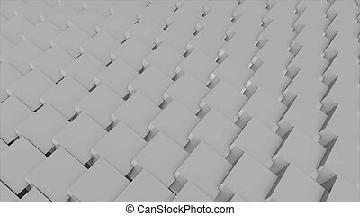 Abstract background with cubes. 3D rendering technology...