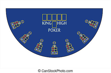Vector poker table layout - Vector casino king high poker...
