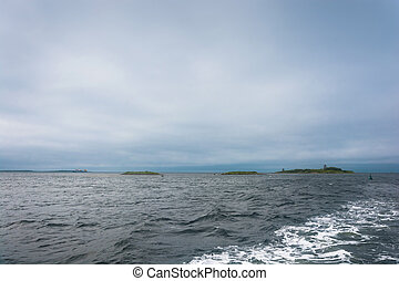 Small islands at the approach to Solovki. - Small Islands at...