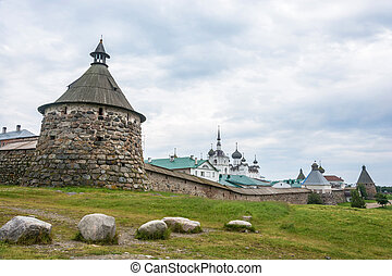 View of the Spaso-Preobrazhensky Solovetsky monastery. - \...