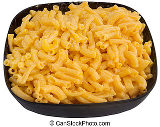 macaroni and cheese - bowl of macaroni and cheese dinner...