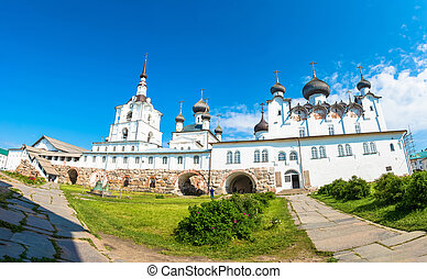Panorama of the courtyard of the Spaso-Preobrazhensky...