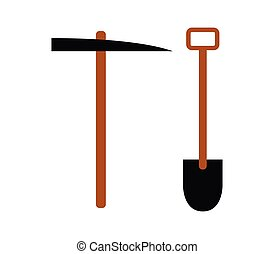 shovel and pickaxe