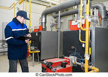 heating engineer in boiler room - maintenance engineer...