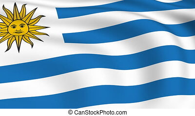 Flying Flag of URUGUAY | LOOPED |