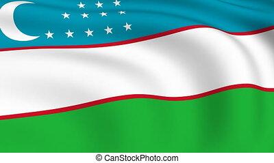 Flying Flag of UZBEKISTAN | LOOPED |