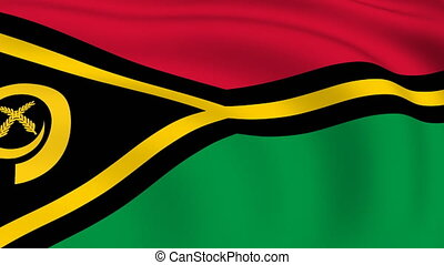Flying Flag of VANUATU | LOOPED |
