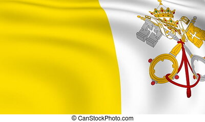 Flying Flag of VATICAN CITY | LOOPED |