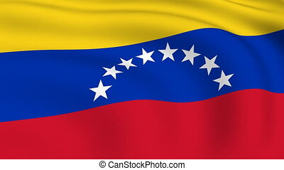 Flying Flag of VENEZUELA | LOOPED |
