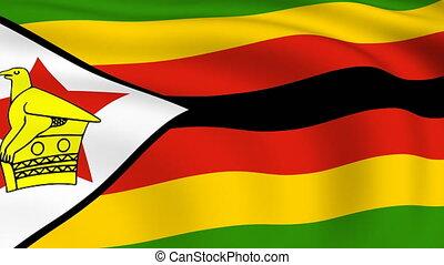 Flying Flag of ZIMBABWE | LOOPED |