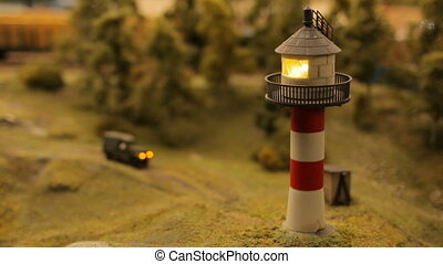 Toy city close-up Lighthouse Beach Coast - Toy city close-up...