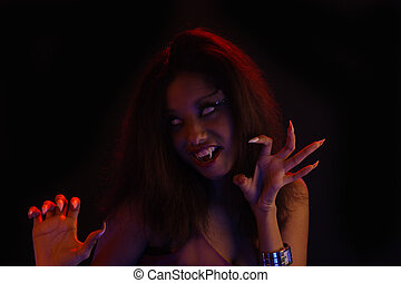 adolescente, West-Indian, vampiro, menina