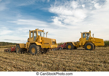 Agricultural field cultivation - the preparation of land for...