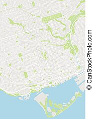 Toronto colored vector map
