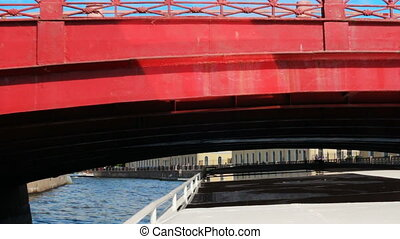 Russia St. Petersburg under bridges on the River - Russia...