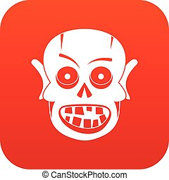 Living dead icon digital red