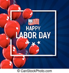 Labor Day in USA Poster Background. Vector Illustration