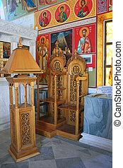 Village church - Interior of village church in Cyprus.