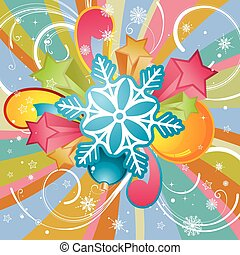 Christmas theme with snowflake and star, element for design,...
