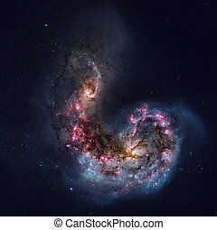 Antennae Galaxies are a galaxies in the constellation...