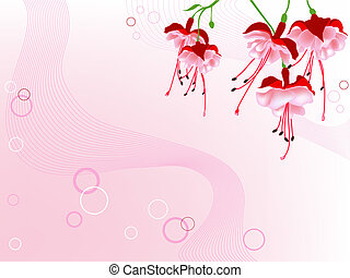 red flowers - floral background with red flowers