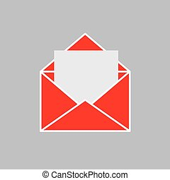 red envelope with blank card