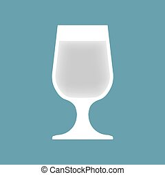 vodka glass- vector illustration