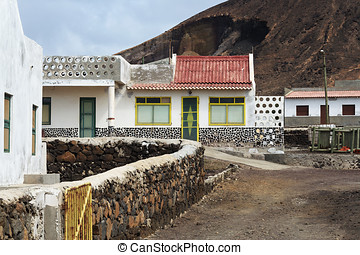 Fishermans hut in Cape Verde - Fishermens hut in Cape Verde,...