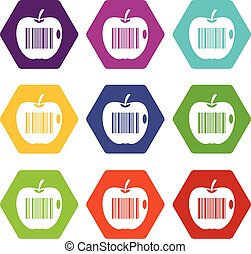 Code to represent product identification icon set color...