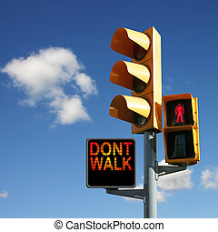 Traffic Lights with Dont Walk and Red Man