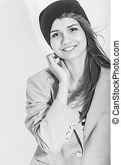 Youth Ideas and Concepts. Black And White Portrait of...