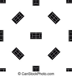 Tennis court pattern seamless black - Tennis court pattern...