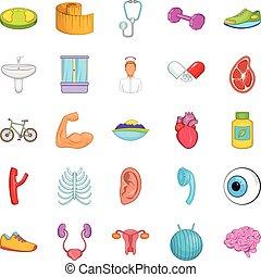 Average age icons set, cartoon style - Average age icons...