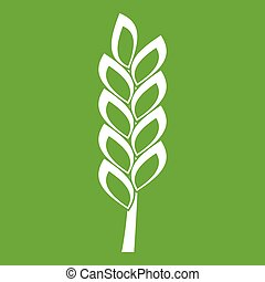 One spike icon green - One spike icon white isolated on...