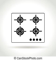 hob icon on white background - Illustration of hob icon on...