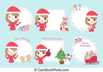 woman with merry christmas