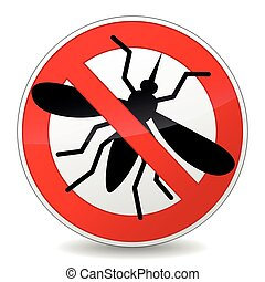 no mosquito sign icon on white background