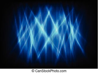 Dark blue abstract glowing stripes vector background