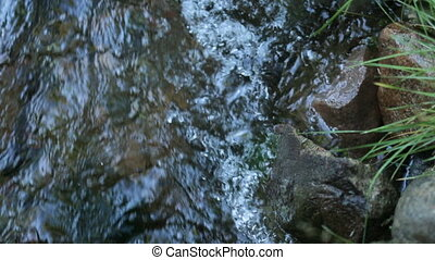 Over water between stones Creek - Over water between and...