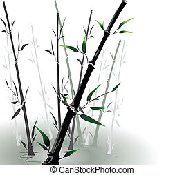 vector bamboo in a pool