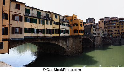 Ponte Vecchio in Florence - The Ponte Vecchio is a Medieval...