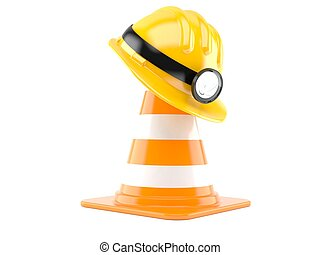 stock image de casque mineur vieux endommag mineur casque isol csp12974062. Black Bedroom Furniture Sets. Home Design Ideas