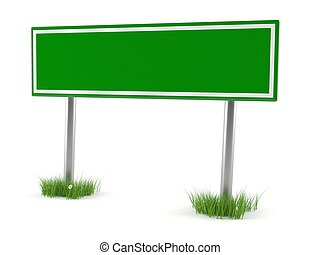 Road sign with blank space