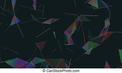 Triangles and lines.Abstract plexus background for different...