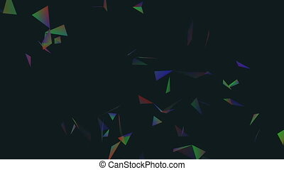 Laser fish.Abstract plexus background for different events and projects.Seamless loop.