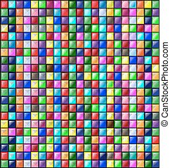 colored image of glossy blocks - abstract colored background...