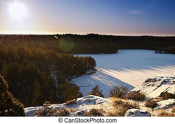 Swedish Landscape In Winter - Beautiful winter landscape in...