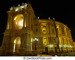 Opera Theatre Building in Odessa Ukraine - Old Opera Theatre...